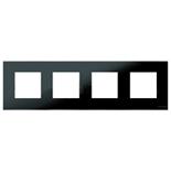 N2274 CN - Четырехместная рамка, ABB ZENIT (черное стекло)