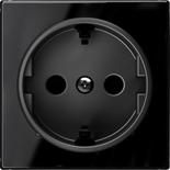 2CLA858800A2501 - Накладка для розеток SCHUKO, ABB SKY (чёрное стекло)