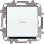 8110+2CLA819202A1001+2CLA850130A1101 - Переключатель одноклавишный проходной (перекрёстный) с подсветкой, 10А, с клавишей ABB Sky (белый)