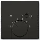 1032-0-0498 (1 шт.) + 1710-0-3935 (1 шт.) - Терморегулятор ABB Basic 55 (шато-черный)