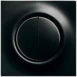 1012-0-2111+1753-0-9624 - Выключатель двухклавишный с подсветкой, с клавишами ABB Impuls (черный бриллиант)