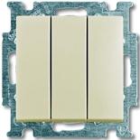 1012-0-2158 - Выключатель трехклавишный ABB Basic 55 (слоновая кость)