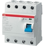 2CSF204001R1800 - УЗО ABB, 80A, тип AC, 30mA, трехфазное, серия F204