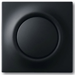 1753-0-0153 - Лицевая панель (клавиша) для одноклавишного выключателя ABB Impuls, с подсветкой, черный бархат