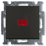 1012-0-2175 - Выключатель одноклавишный с подсветкой ABB Basic 55 (шато-черный)