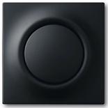 1413-0-0871+1753-0-0153 - Кнопка с перекидным контактом без нейтрали с клавишей ABB Impuls (черный бархат)