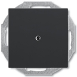 1715-0-0315 - Заглушка с суппортом ABB Basic 55 (шато-черная)