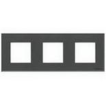N2273 CF - Трехместная рамка, ABB ZENIT (стекло «графит»)