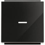 2CLA850130A2501 - Клавиша для 1-клавишных выключателей, переключателей, кнопок с линзой подсветки, ABB Sky (черное стекло)
