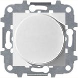N2260.3 BL (1 шт.) + N2271.9 (1 шт.) - Светорегулятор с поворотной кнопкой для регулируемых LED ламп 2-100Вт, ABB ZENIT (белый)