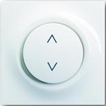 6410-0-0376+6430-0-0144 - Выключатель жалюзи базовый электронный, 3А/690ВА, с лицевой панелью ABB Impuls (альпийский белый)