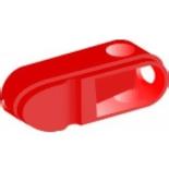 1SCA109097R1001 - Ручка управления OHRS12/1 для реверсивных рубильников ОТ16..80F_С, прямой монтаж (красная)