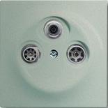 S4100+1753-0-5846 - Розетка TV-SAT-FM оконечная, с механизмом Jung и панелью ABB Impuls (шампань-металлик)