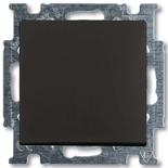 1413-0-1095 - Выключатель кнопочный ABB Basic 55 (шато-черный)
