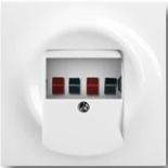 0230-0-0464+1753-0-4989 - Розетка для динамиков с панелью ABB Impuls (альпийский белый, белый цоколь)