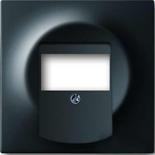 1753-0-0148 - Лицевая панель для аудиорозеток АББ Импульс (черный бархат)