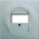 1753-0-0056 - Лицевая панель для аудиорозеток АВВ Импульс (серебристый металлик)