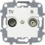 8150 (1 шт.) + N2250.8 BL (1 шт.) + N2271.9 (1 шт.) - Розетка TV-R без фильтра, ABB Zenit (белая)