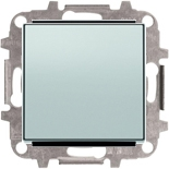 8102+2CLA850100A1301 - Переключатель одноклавишный, 10А, с клавишей ABB Sky (серебристый алюминий)