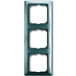 1725-0-1523 - Трехместная рамка с декоративной накладкой ABB Basic 55 (голубая)
