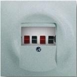 0230-0-0464+1753-0-0056 - Розетка акустическая с панелью ABB Impuls (серебристый металлик, белый цоколь)