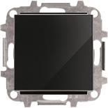 8101+2CLA850100A2501 - Выключатель одноклавишный, 10А, с клавишей ABB Sky (черное стекло)