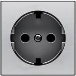 2CLA858890A1401 - Накладка для розеток SCHUKO с плоской поверхностью, ABB SKY (нержавеющая сталь)