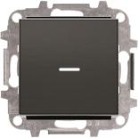 8102+2CLA819202A1001+2CLA850130A1501 - Переключатель одноклавишный с подсветкой, 10А, с клавишей ABB Sky (черный бархат)