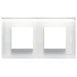 N2272 CB - Двухместная рамка, ABB ZENIT (белое стекло)