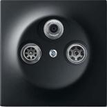 S4100+1753-0-0139 - Розетка TV-SAT-FM оконечная, с механизмом Jung и панелью ABB Impuls (черный бархат)