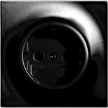 2013-0-5208 - Розетка электрическая с заземлением и защитными шторками, 16А, ABB Impuls (черный бриллиант)
