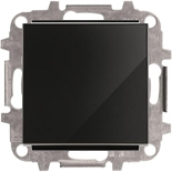 8110+2CLA850100A2501 - Переключатель одноклавишный проходной (перекрёстный), 10А, с клавишей ABB Sky (черное стекло)