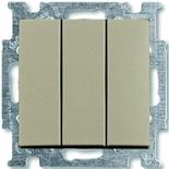1012-0-2163 - Выключатель трехклавишный ABB Basic 55 (шампань)