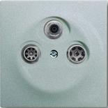 S4110+1753-0-0038 - Розетка TV-SAT-FM проходная, с механизмом Jung и панелью ABB Impuls (серебристый металлик)
