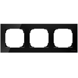 2CLA857300A3101 - Рамка 3-постовая ABB Sky (чёрное стекло)