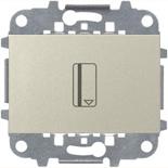 N2214.5 CV (1 шт.) + N2271.9 (1 шт.) - Карточный выключатель, 16А, ABB ZENIT (шампань)