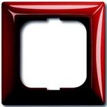 1725-0-1516 - Одноместная рамка с декоративной накладкой ABB Basic 55 (красная)