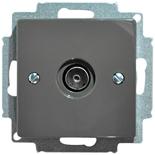 1724-0-4313 - Розетка ТВ ABB Basic 55 (шато-черная)