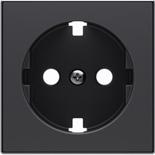 2CLA858890A1501 - Накладка для розеток SCHUKO с плоской поверхностью, ABB SKY (чёрный бархат)