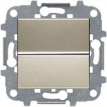 N2201 CV (1 шт.) + N2271.9 (1 шт.) - Выключатель одноклавишный, 16А, ABB ZENIT (шампань)