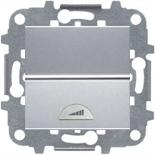 N2260.1 PL (1 шт.) + N2271.9 (1 шт.) - Светорегулятор клавишный 60-500Вт, ABB ZENIT (серебристый)