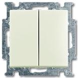 1012-0-2187 - Выключатель двухклавишный ABB Basic 55, простой (шале-белый)