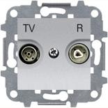 8150.8 (1 шт.) + N2250.8 PL (1 шт.) + N2271.9 (1 шт.) - Розетка TV-R оконечная, ABB Zenit (серебристая)