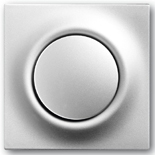 1012-0-2109+1753-0-0067 - Выключатель/переключатель одноклавишный с подсветкой, с клавишей ABB Impuls (серебристый металлик)