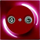 0230-0-0268+1753-0-0109 - Розетка TV-FM проходная, с лицевой панелью ABB Impuls (бордо)