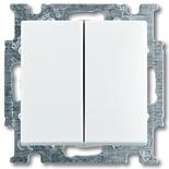 1012-0-2144 - Переключатель двухклавишный ABB Basic 55, (альпийский  белый)