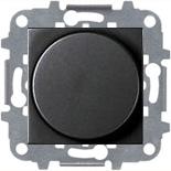 N2260.3 AN (1 шт.) + N2271.9 (1 шт.) - Светорегулятор с поворотной кнопкой для регулируемых LED ламп 2-100Вт, АББ Зенит (антрацит)