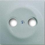 1753-0-0040 - Лицевая панель для телевизионных розеток на 2 разъема ABB Impuls (серебристый металлик)