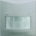 6800-0-2219+6800-0-2340 - Датчик движения Busch-Wächter® с селективной линзой и полевым МОП-транзистором, 420Вт, с лицевой панелью АВВ Импульс (серебристый металлик)