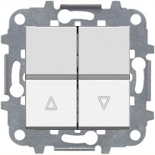 N2244 BL (1 шт.) + N2271.9 (1 шт.) - Выключатель жалюзи без фиксации, 16А, АВВ Зенит (белый)